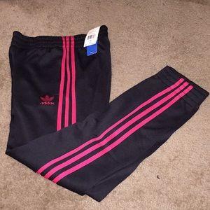 Adidas Girls Cuffed Sweatpants